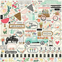 Carta Bella Paper - Flower Market Collection - 12 x 12 Cardstock Stickers - Elements
