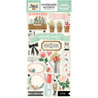 Carta Bella Paper - Flower Market Collection - Chipboard Stickers - Accents