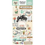 Carta Bella Paper - Flower Market Collection - Chipboard Stickers - Phrases