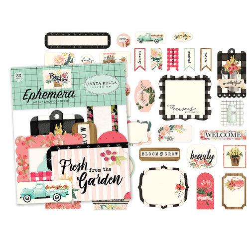 Carta Bella Paper - Flower Market Collection - 33 Piece - Ephemera Pack