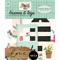 Carta Bella Paper - Flower Market Collection - Ephemera - Frames and Tags
