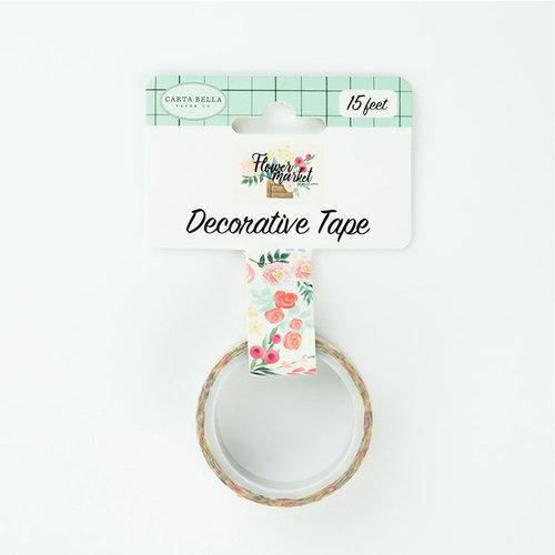 Carta Bella Paper - Flower Market Collection - Decorative Tape - Flower Bouquet