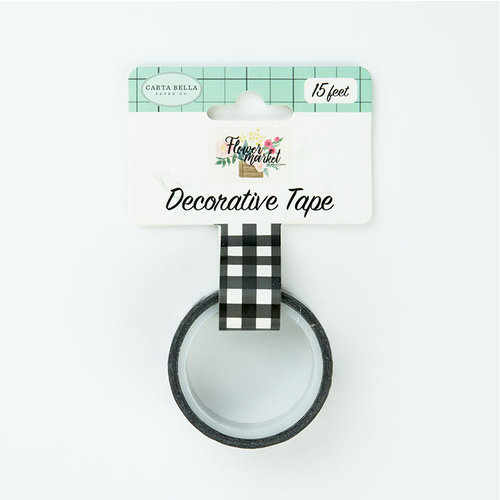 Carta Bella Paper - Flower Market Collection - Decorative Tape - Black and White Buffalo