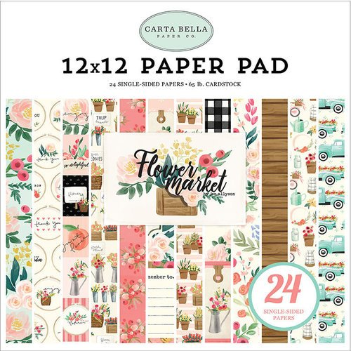 Carta Bella Paper - Flower Market Collection - 12 x 12 Paper Pad