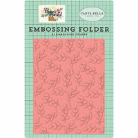 Carta Bella Paper - Flower Market Collection - Embossing Folder - Bloom and Grow