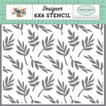 Carta Bella Paper - Flower Market Collection - 6 x 6 Stencil - Delightful Branches
