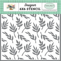 Carta Bella Paper - Flower Market Collection - 6 x 6 Stencil - Delightful Branches