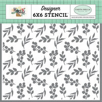 Carta Bella Paper - Flower Market Collection - 6 x 6 Stencil - Bloom and Grow