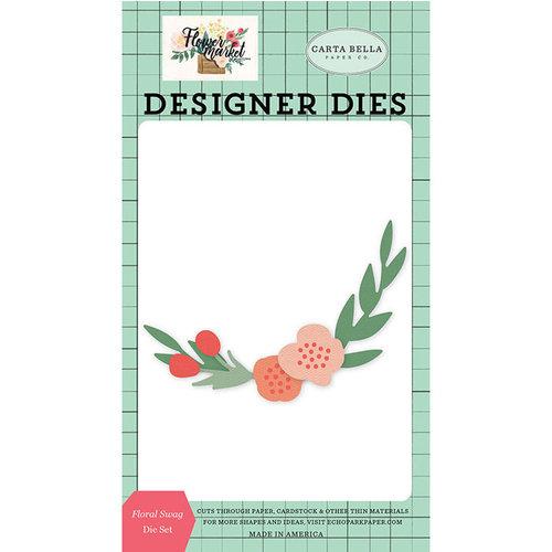 Carta Bella Paper - Flower Market Collection - Designer Dies - Floral Swag