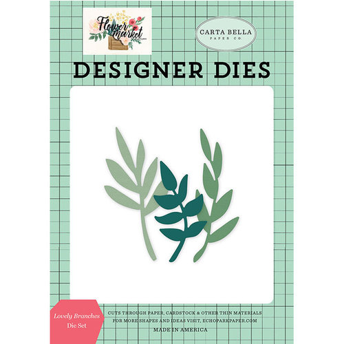 Carta Bella Paper - Flower Market Collection - Designer Dies - Lovely Branches