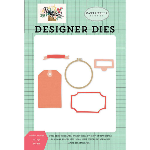 Carta Bella Paper - Flower Market Collection - Designer Dies - Market Frames and Tags