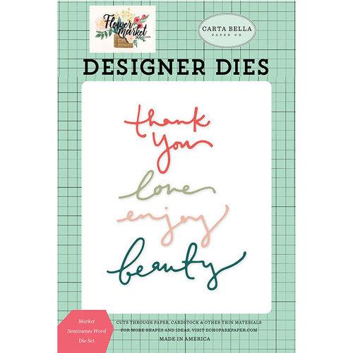 Carta Bella Paper - Flower Market Collection - Designer Dies - Market Sentiments Word
