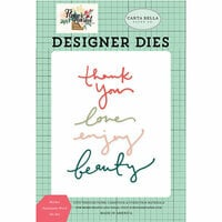 Carta Bella Paper - Flower Market Collection - Designer Dies - Market Sentiments Word