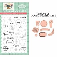Carta Bella Paper - Flower Market Collection - Designer Dies and Clear Photopolymer Stamp Set - Beauty All Around