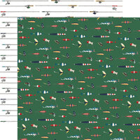 Carta Bella Paper - Outdoor Adventures Collection - 12 x 12 Double Sided Paper - Let's Go Fishing