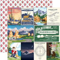 Carta Bella Paper - Outdoor Adventures Collection - 12 x 12 Double Sided Paper - Multi Journaling Cards
