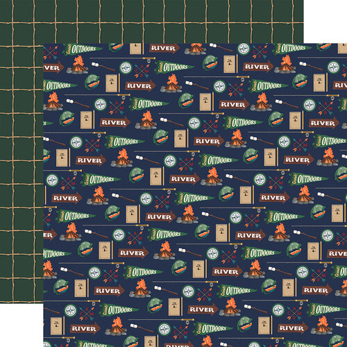 Carta Bella Paper - Outdoor Adventures Collection - 12 x 12 Double Sided Paper - Camping Essentials