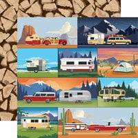 Carta Bella Paper - Outdoor Adventures Collection - 12 x 12 Double Sided Paper - Camp Trailers