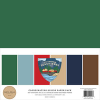Carta Bella Paper - Outdoor Adventures Collection - 12 x 12 Paper Pack - Solids