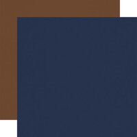 Carta Bella Paper - Outdoor Adventures Collection - 12 x 12 Double Sided Paper - Navy