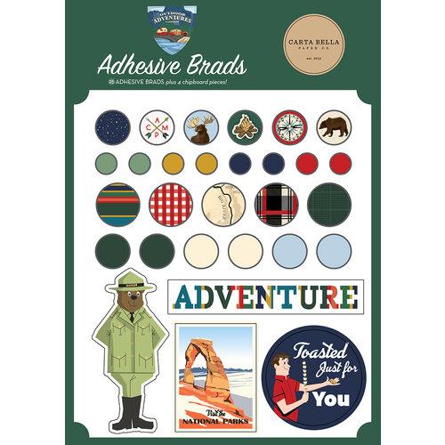 Carta Bella Paper - Outdoor Adventures Collection - Self Adhesive Decorative Brads