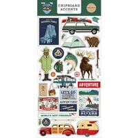 Carta Bella Paper - Outdoor Adventures Collection - Chipboard Stickers - Accents