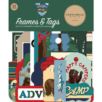 Carta Bella Paper - Outdoor Adventures Collection - Ephemera - Frames and Tags