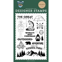 Carta Bella Paper - Outdoor Adventures Collection - Clear Photopolymer Stamps - The Great Outdoors