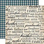 Carta Bella Paper - Our Family Collection - 12 x 12 Double Sided Paper - My Family