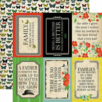 Carta Bella Paper - Our Family Collection - 12 x 12 Double Sided Paper - 4 x 6 Journaling Cards