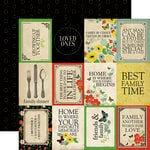 Carta Bella Paper - Our Family Collection - 12 x 12 Double Sided Paper - 3 x 4 Journaling Cards
