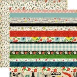 Carta Bella Paper - Our Family Collection - 12 x 12 Double Sided Paper - Border Strips