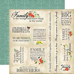 Carta Bella Paper - Our Family Collection - 12 x 12 Double Sided Paper - Family Memories
