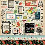 Carta Bella Paper - Our Family Collection - 12 x 12 Cardstock Stickers