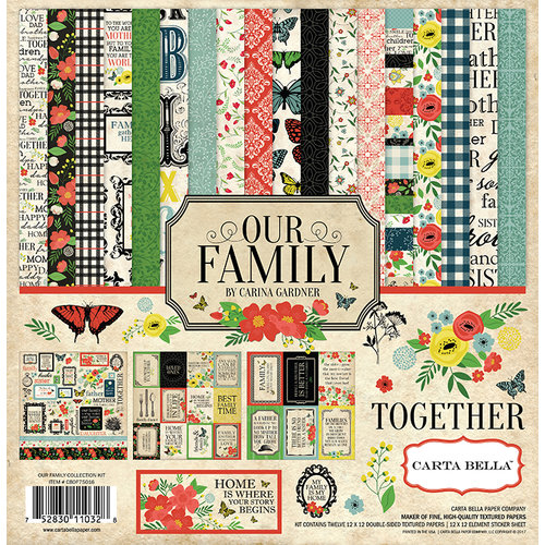 Carta Bella Paper - Our Family Collection - 12 x 12 Collection Kit