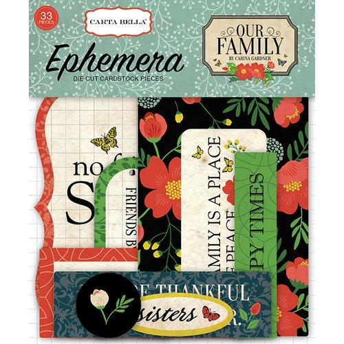 Carta Bella Paper - Our Family Collection - Ephemera