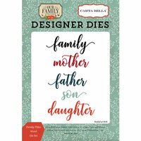 Carta Bella Paper - Our Family Collection - Designer Dies - Family Titles Word