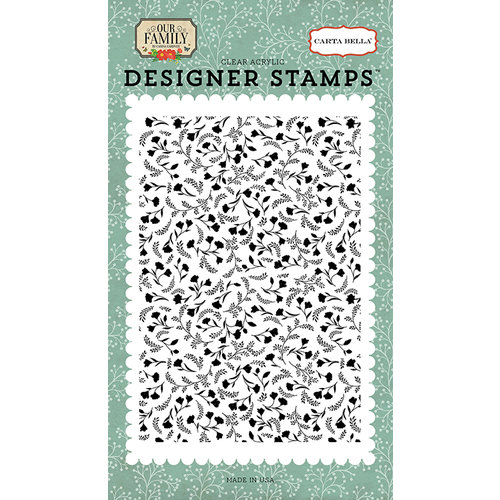 Carta Bella Paper - Our Family Collection - Clear Acrylic Stamps - Family Floral