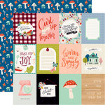 Carta Bella Paper - Our House Collection - 12 x 12 Double Sided Paper - 3 x 4 Journaling Cards