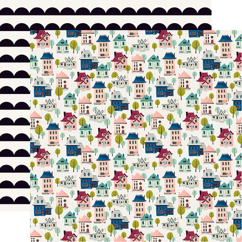 Carta Bella Paper - Our House Collection - 12 x 12 Double Sided Paper - Houses