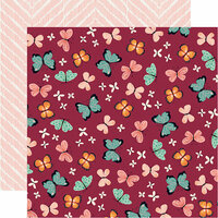 Carta Bella Paper - Our House Collection - 12 x 12 Double Sided Paper - Butterflies