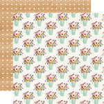 Carta Bella Paper - Our House Collection - 12 x 12 Double Sided Paper - Flower Pots