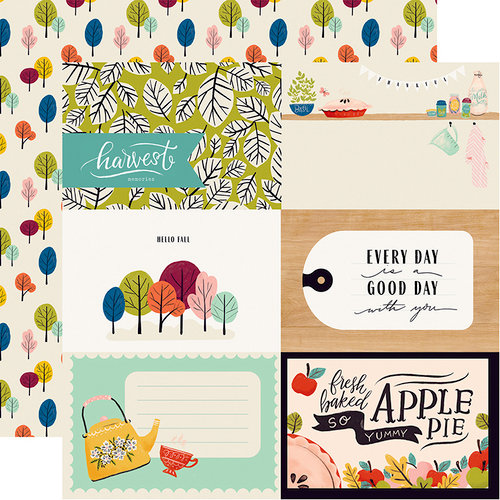 Carta Bella Paper - Our House Collection - 12 x 12 Double Sided Paper - 4 x 6 Journaling Cards