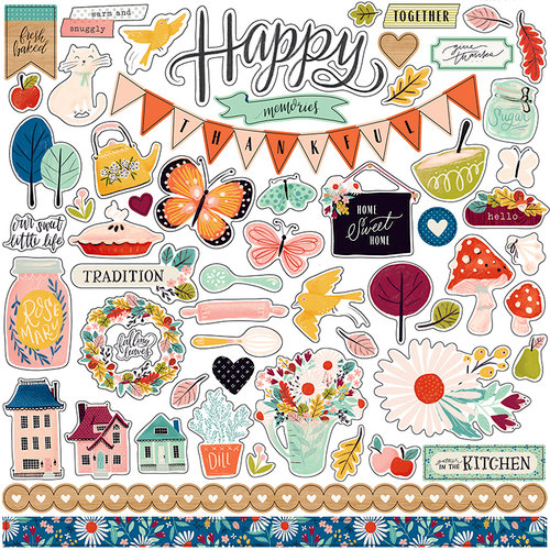 Carta Bella Paper - Our House Collection - 12 x 12 Cardstock Stickers