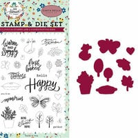 Carta Bella Paper - Our House Collection - Designer Die and Clear Acrylic Stamp Set - Sweet Little Life