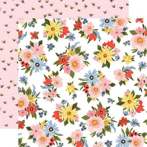 Carta Bella Paper - Oh Happy Day Collection - 12 x 12 Double Sided Paper - Lovely Floral