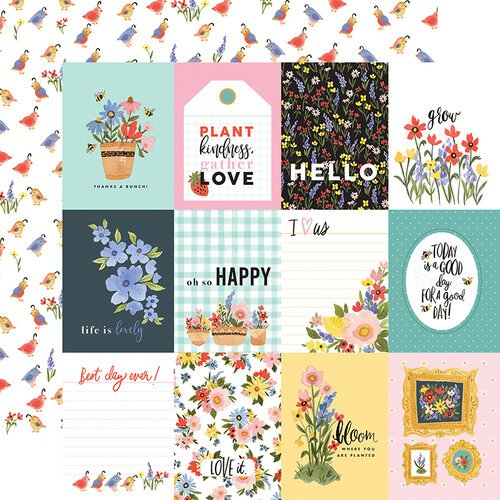 Carta Bella Paper - Oh Happy Day Collection - 12 x 12 Double Sided Paper - 3X4 Journaling Cards