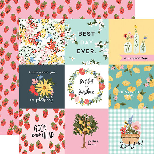 Carta Bella Paper - Oh Happy Day Collection - 12 x 12 Double Sided Paper - 4X4 Journaling Cards