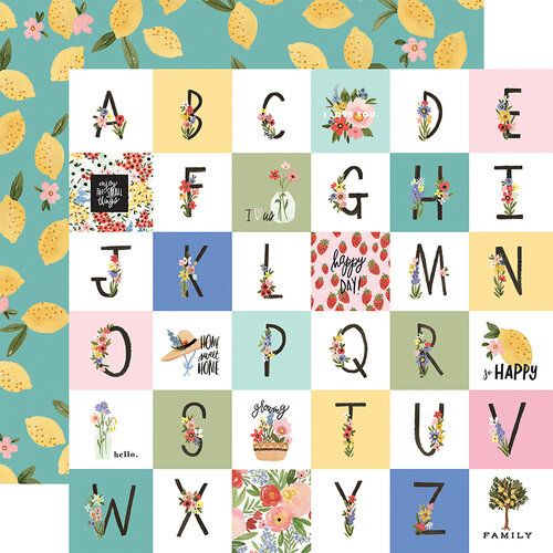 Carta Bella Paper - Oh Happy Day Collection - 12 x 12 Double Sided Paper - Happy Alphabet
