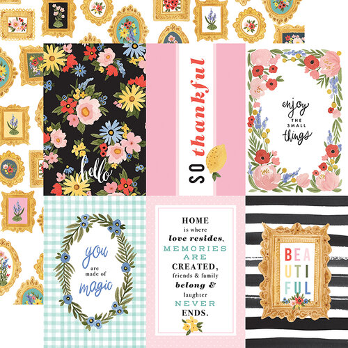 Carta Bella Paper - Oh Happy Day Collection - 12 x 12 Double Sided Paper - 4 x 6 Journaling Cards
